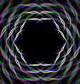 Mystic shiny hex frame with aberrations vector image vector image