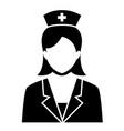nurse sign symbol icon vector image vector image