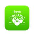 organic farm icon green vector image
