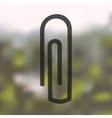 paper clip icon on blurred background vector image
