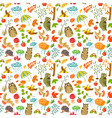 pattern with owls vector image vector image