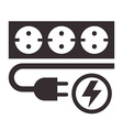 Power outlet plug and lightning sign vector image vector image