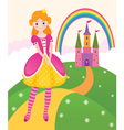 Princess fairy kingdom vector image