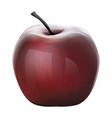 realistic shiny red apple vector image vector image