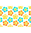 seamless background with floral ornament vector image