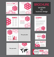 set corporate business stationery brochure vector image vector image