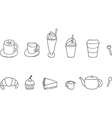 Set of Coffee shop objects vector image