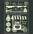 set of design elements with a mobile coffee shop vector image