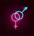 sex neon sign vector image