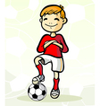 soccer player with ball vector image vector image