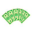 stack dollars business financial vector image