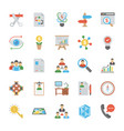 startup and new business flat icons set vector image vector image