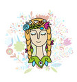 summer girl sketch for your design vector image vector image