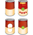 template tin can tomato soup vector image vector image