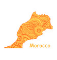 textured map of morocco hand drawn ethno vector image vector image