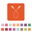 The skipping rope icon Jumping-rope symbol Flat vector image vector image