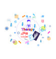 therapy healthcare banner medical help medicine vector image