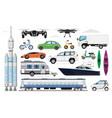 transportation vehicles set different transport vector image vector image