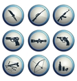 Weapon symbols vector image