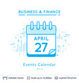 events calendar symbol on white vector image