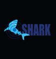 shark with target blue vector image