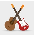 collection electric guitar and traditional guitar vector image