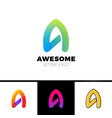 a letter faster logo template icon design vector image