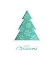 abstract paper christmas tree with winter objects vector image vector image