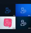 add user line icon profile avatar sign