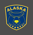 Alaska bear Stripe or emblem depicting muzzle of a vector image