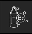 b7 biotin in liquid form chalk white icon vector image vector image