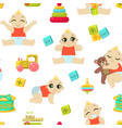 batoddler character seamless pattern cute vector image vector image