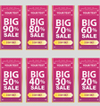 big sale big sale best offer badge sticker vector image vector image