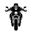 Biker icon Man on a motorcycle vector image