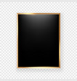 black picture frame on a wall isolated on vector image vector image