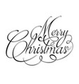 black text marry christmas vector image