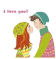 Boy and girl in love vector image vector image