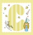 c alphabet letter for kids vector image vector image