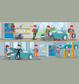 car service horizontal banners vector image vector image