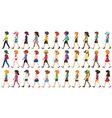 Children walking vector image vector image