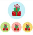 Christmas Present icon vector image vector image
