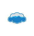 cloud wave logo vector image