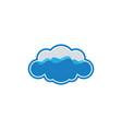 cloud wave logo vector image vector image