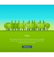 Collection of natural green trees icons set pine vector image