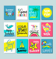 colorful cute hand drawn summer cards background vector image vector image