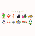 cute cool hand drawn heart and hip icons set vector image vector image