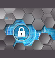 data security abstract background with hexagons vector image vector image