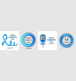 diabetes day banner set realistic style vector image vector image