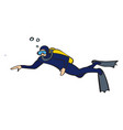 diver on white background vector image vector image