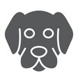 dog glyph icon animal and zoo mammal sign vector image vector image